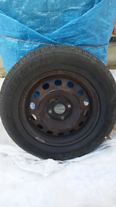 SET of almost new all season tires with rims, 185/70/14