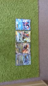 Big pokemon cards (Ash greninja EX, Tapu Koko GX, Dragonite EX,kingdra