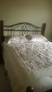 Queen boxspring and frame