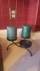 Candle Holder with 2 large candles