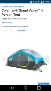 Coleman tent grand valley brand new 4 person