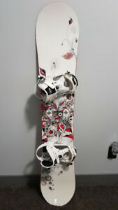 **Reduced** Burton Lotus Board with Ride Bindings