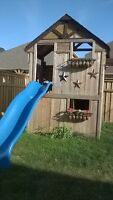 Sunray kids clubhouse and playground combo