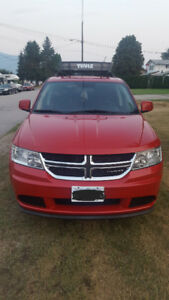 Red 2012 Dodge Journey SE Plus Sedan with winter Tires and rims