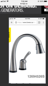 "Delta Kitchen Tap with ""Touch"" On & Off feature"