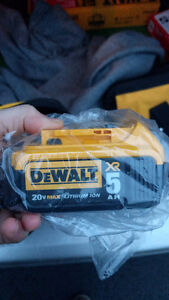DeWalt Battery 20V MAX XR 5.0 Ah Batterie Pile 5 Amps - NEW NEUF