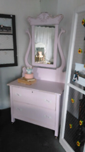 Shabby Chic Mirrored Dresser