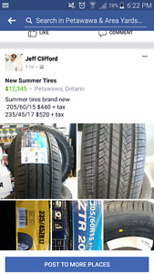 2 sets of summer tires NEW