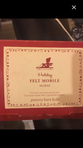 Pottery barn kids felt mobile new