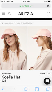 Brand New women's baseball hats from Aritzia. With tags
