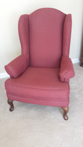 Queen Anne High Back Wing Chair