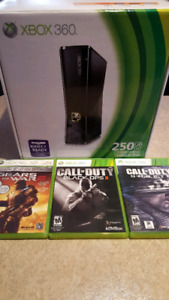 Xbox 360 250gb and games