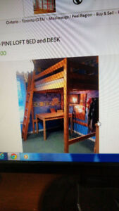Double (not single) Bunk Pine Bed