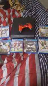 Ps4 with games and 1 controller West Island Greater Montréal image 1