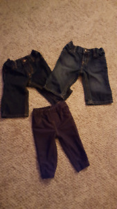 13 size 3 month pants lot