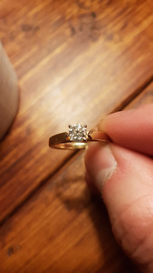 0.52CT Solitaire Engagement Ring - Willing to Accept an Offer!