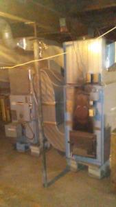 Enterprise fawcett Wood/oil furnace includes duct work