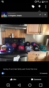 Lightly used NEW ERA  hats lots of variety