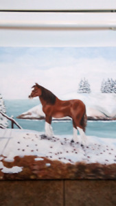 Oil painting of horse