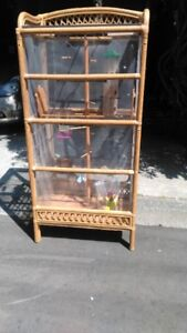 Custom wicker bird cage for finches