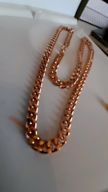 Gold plated stunning unisex chain 30cm high quality