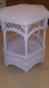 White Wicker Table - price reduced