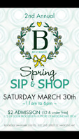 2nd Annual Sip & Shop-Beveridge Landmark Events