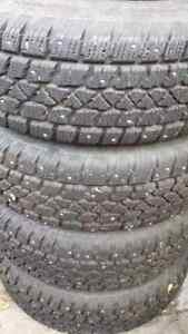 Set of 4 - 225/70/r15 Studded Winter Tires On Rims