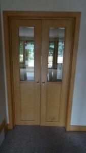 Door - 20(w) x 78 - Natural Birch, Double Door, Half Lite (Pair)