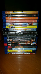 17 Blueray DVDS