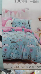 100% Cotton Children's Twin Bed Duvets For Sale