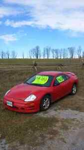 mitsubishi eclipse 2003 with 2 sets of tires on rims