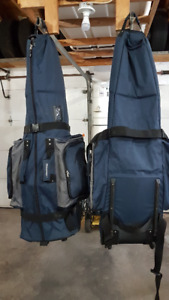 TWO (2) Golf Canvas Travel Bag on wheels for sale