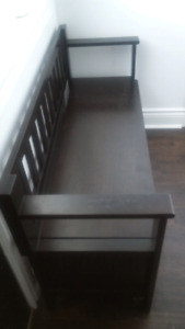 Storage bench for swap/trade