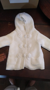 Girls cream jacket 6-9 months