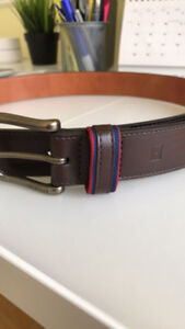 Tommy Hilfiger Brown Leather Belt 32
