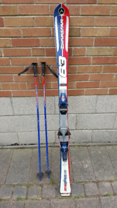 Youth Racing Skis and Poles