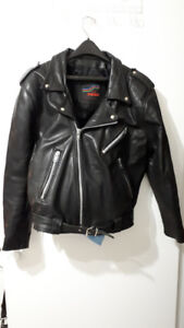 FS: Man's Black Leather Jacket - size 42-44 -very good condition