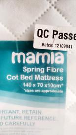 Mattress single new cot bed