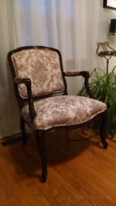 Queen Anne Tapestry-style chair