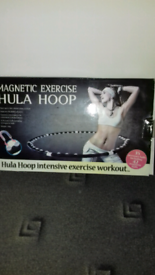 Magnetic exercise hula hoop