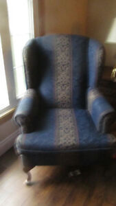 wing back chair   like new