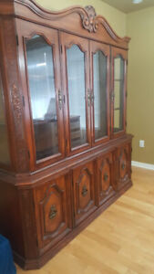 Buffet with Hutch Antique with China Cabinet Solid wood