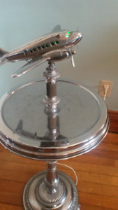 Art Deco Airplane Lamp Side Table