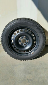 Snow Tires on Steel Rims- Excellent Condition