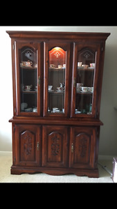 Stunning Solid Wood China Cabinet
