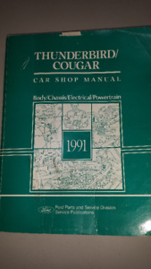 1991 T-Bird & Cougar Manuals