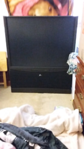 "50"" Zenith Flat Screen Rear Projection Tv"