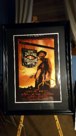 Large Clint Eastwood framed picture. 35.5 x 25in