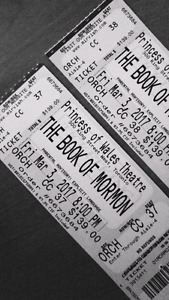 Book of Mormon tickets March 3